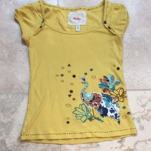Darling Anthropologie Ric Rac top